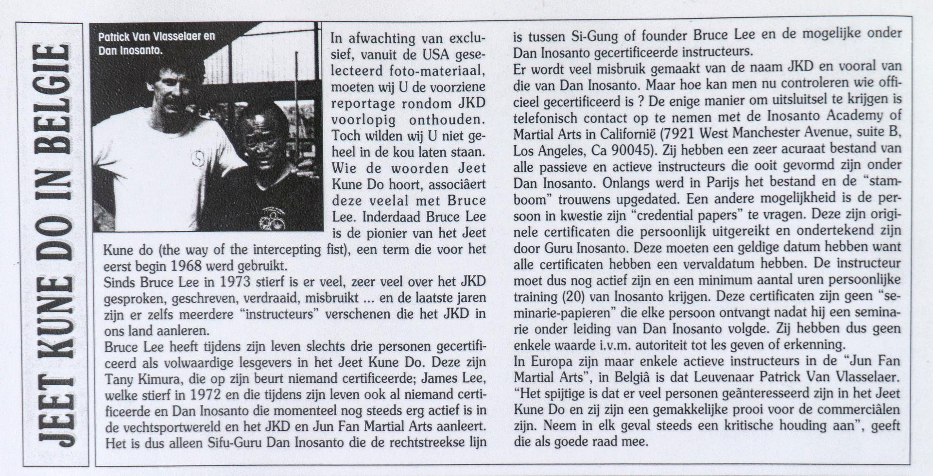 24. Jeet Kune Do in Belgie