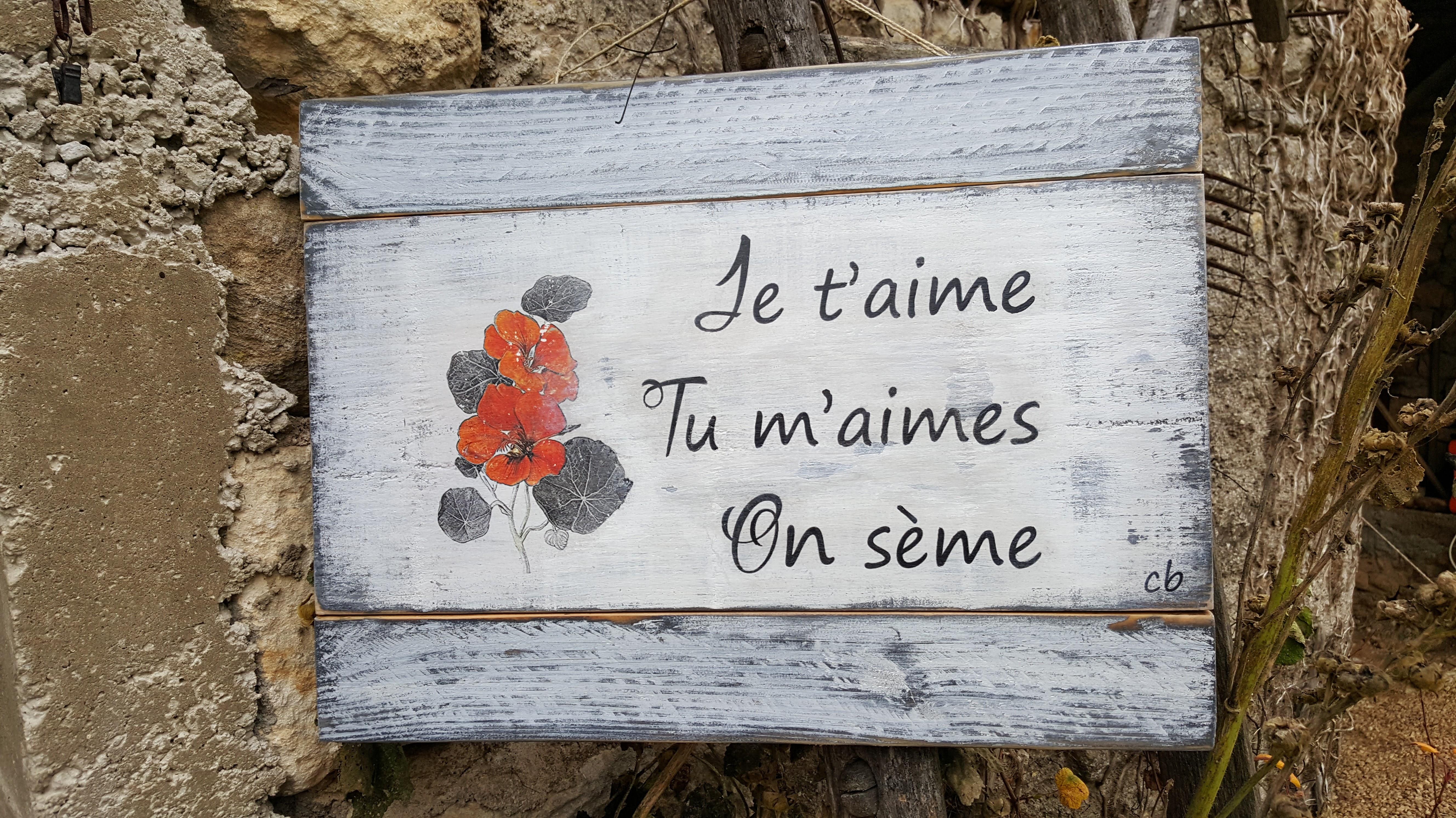 """Plaque """"on sème"""" Commande unique"""