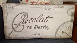 Plaque chocolat Num : 1 Vendu