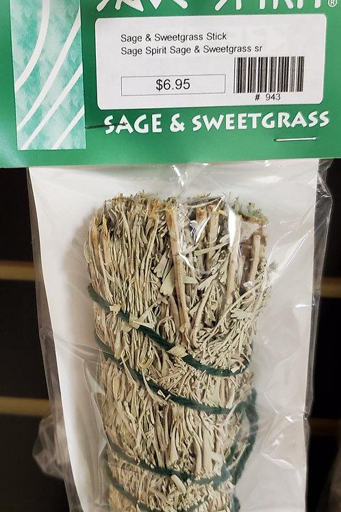 Sage Spirit Sage & Sweetgrass Smudge Stick