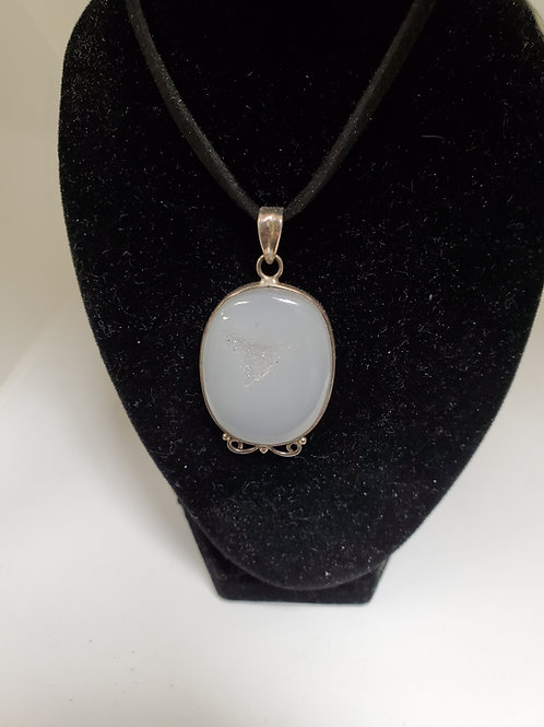 Druzy & Sterling Silver Necklace
