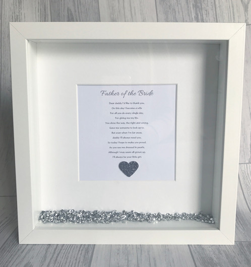Mother / father of the bride / groom crystal frame