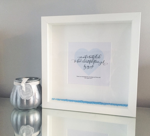 Bridesmaid / flower girl frames | Crafty Gems - Personalised Frames ...
