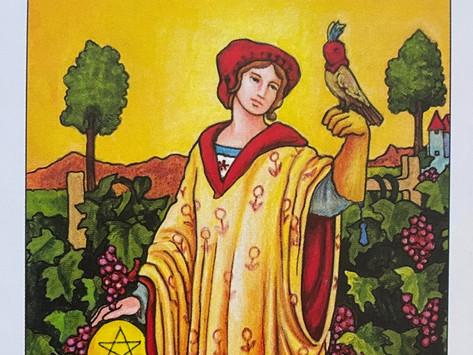 Card Of The Week - Nine Of Pentacles