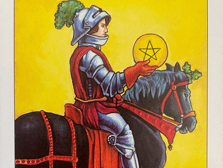 Card Of The Week - Knight Of Pentacles