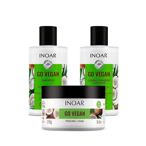Inoar Go Vegan Hidratación Combo Triple
