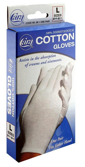 Model #86 - Dermatological Cotton Gloves, Large