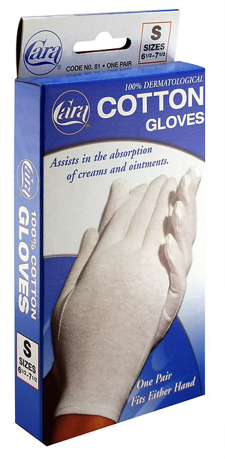 Model #81 - Dermatological Cotton Gloves, Small