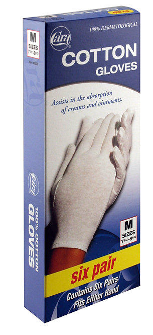 Model #8200 - Dermatological Cotton Gloves, Medium