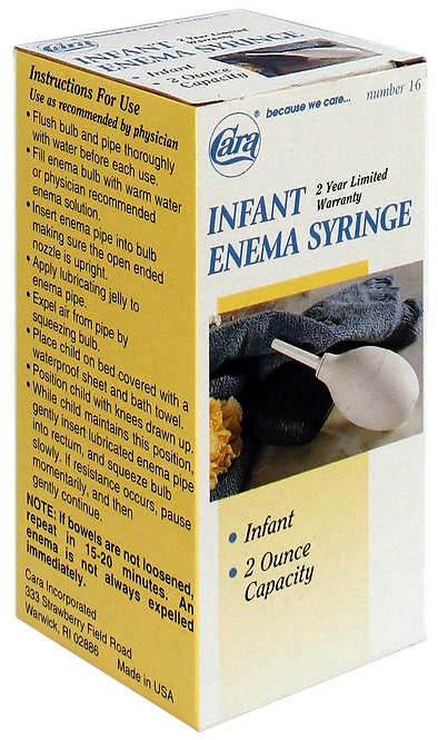 Model #16 - 2 oz Infant Enema Syringe
