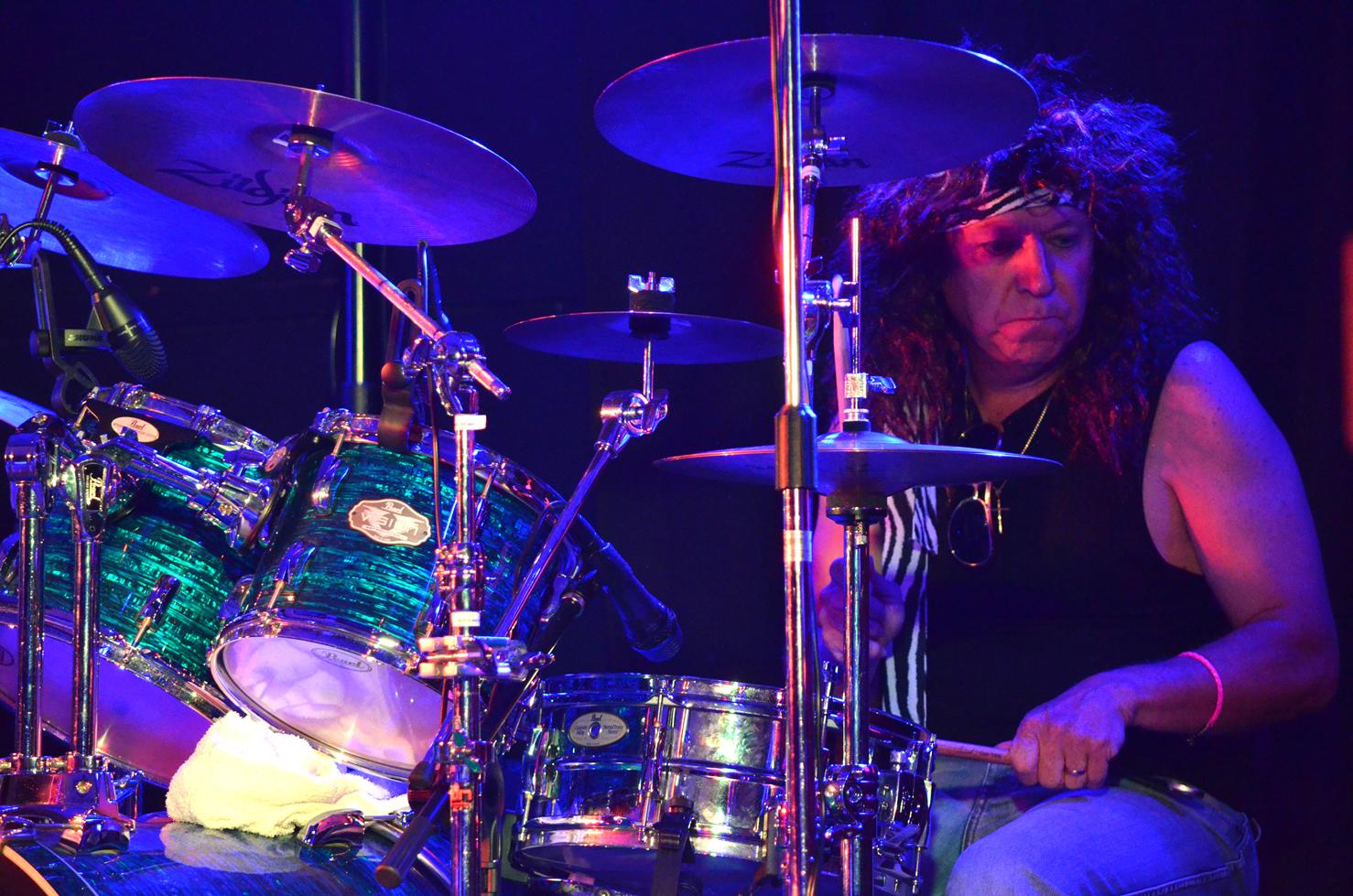 Frank on drums