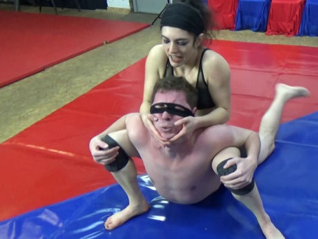 Aralia Dominates & Destroys her masked opponent Andy