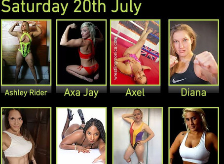 Line-up announced for Saturday 20th July Female Wrestling Event