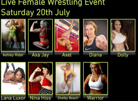 Nina Hiss makes Live Female Wrestling Debut