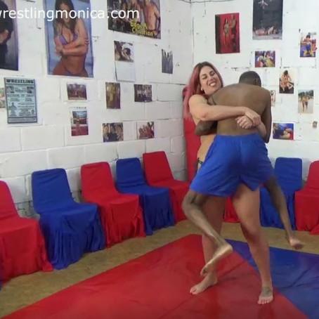 Gia the Giant dominates Andrew