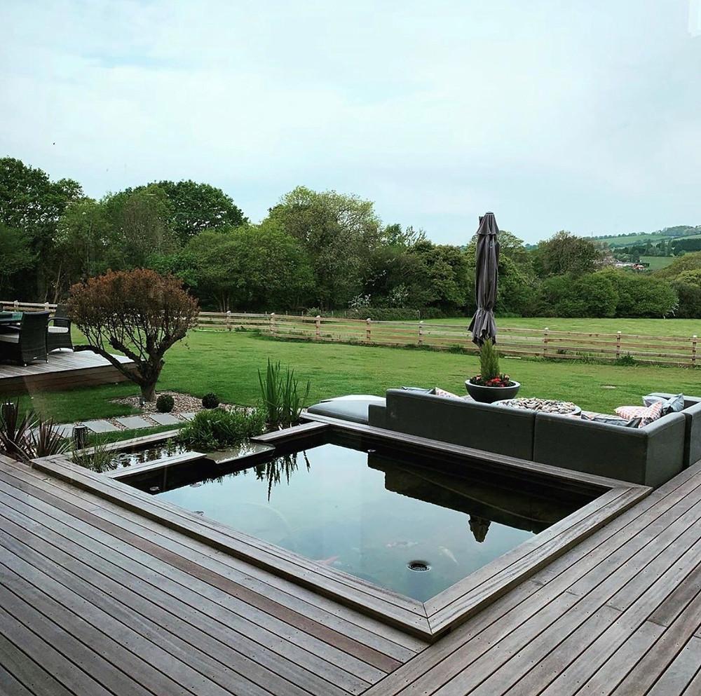 iroko decking; thermowood iroko decking; weathered iroko decking; timber deck