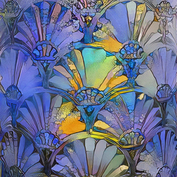 art deco blue © Morgana Welch