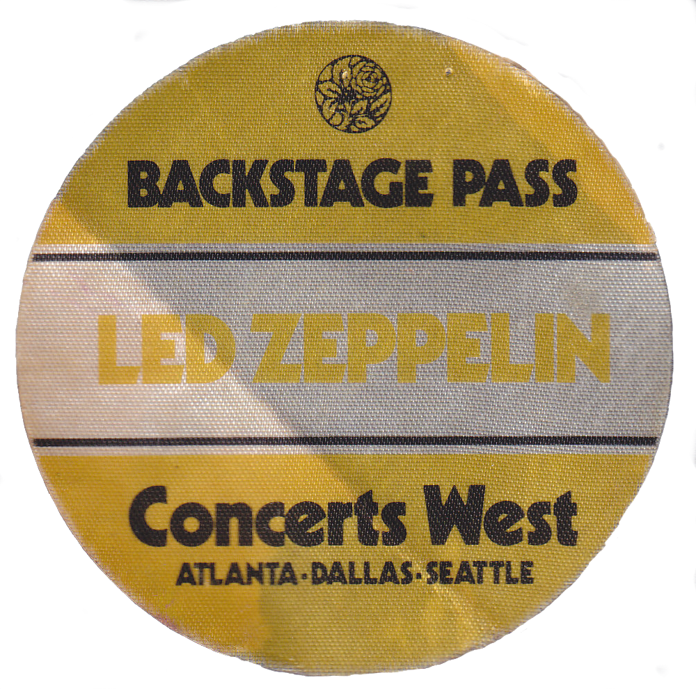 Led Zeppelin Backstage Pass