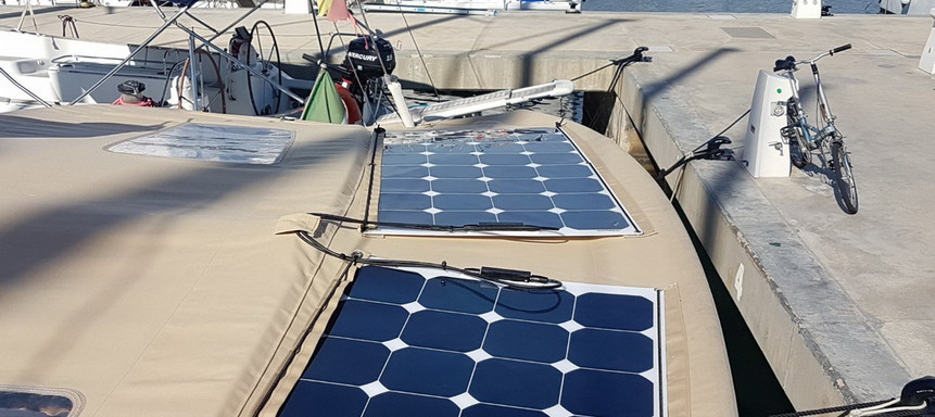 Sun odyssey 449 placas solares