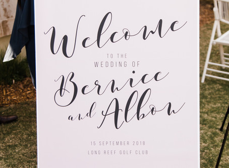 DIY $36 Wedding Signs