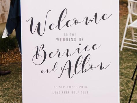 DIY $36 Wedding Signs