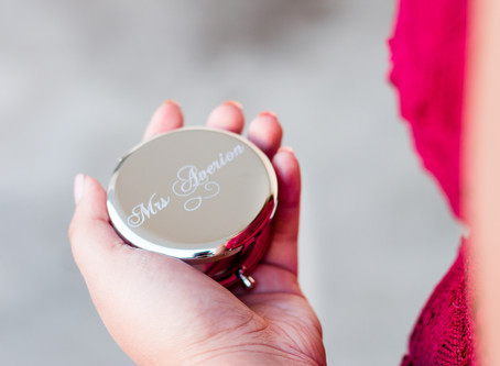 Gift Guide for your Bridal Party: Customised Compact Mirrors, and More!