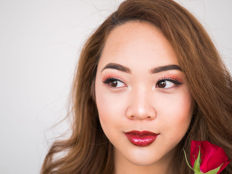 Cherry Inspired Makeup With INIKA Organic's  Lip Glaze