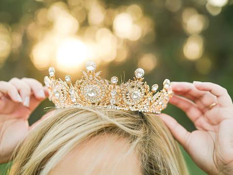 My Gold & Swarovski Bridal Crown from Eden Luxe Bridal