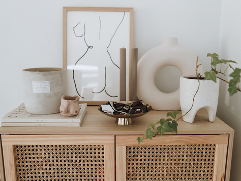 Styling a rattan cabinet