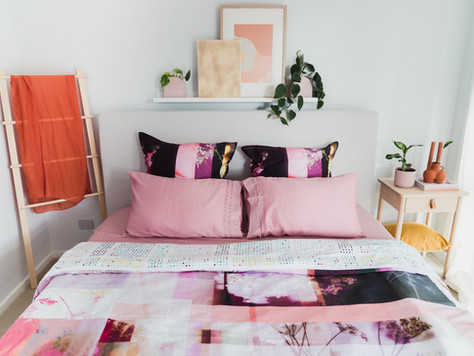 Luxotic Gaia Fuchsia Quilts + Lace Sheets