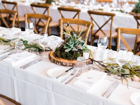 Rustic Succulent Wedding Table Centrepieces