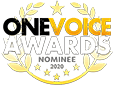 Voiceover artist awards logo - One Voice 2020