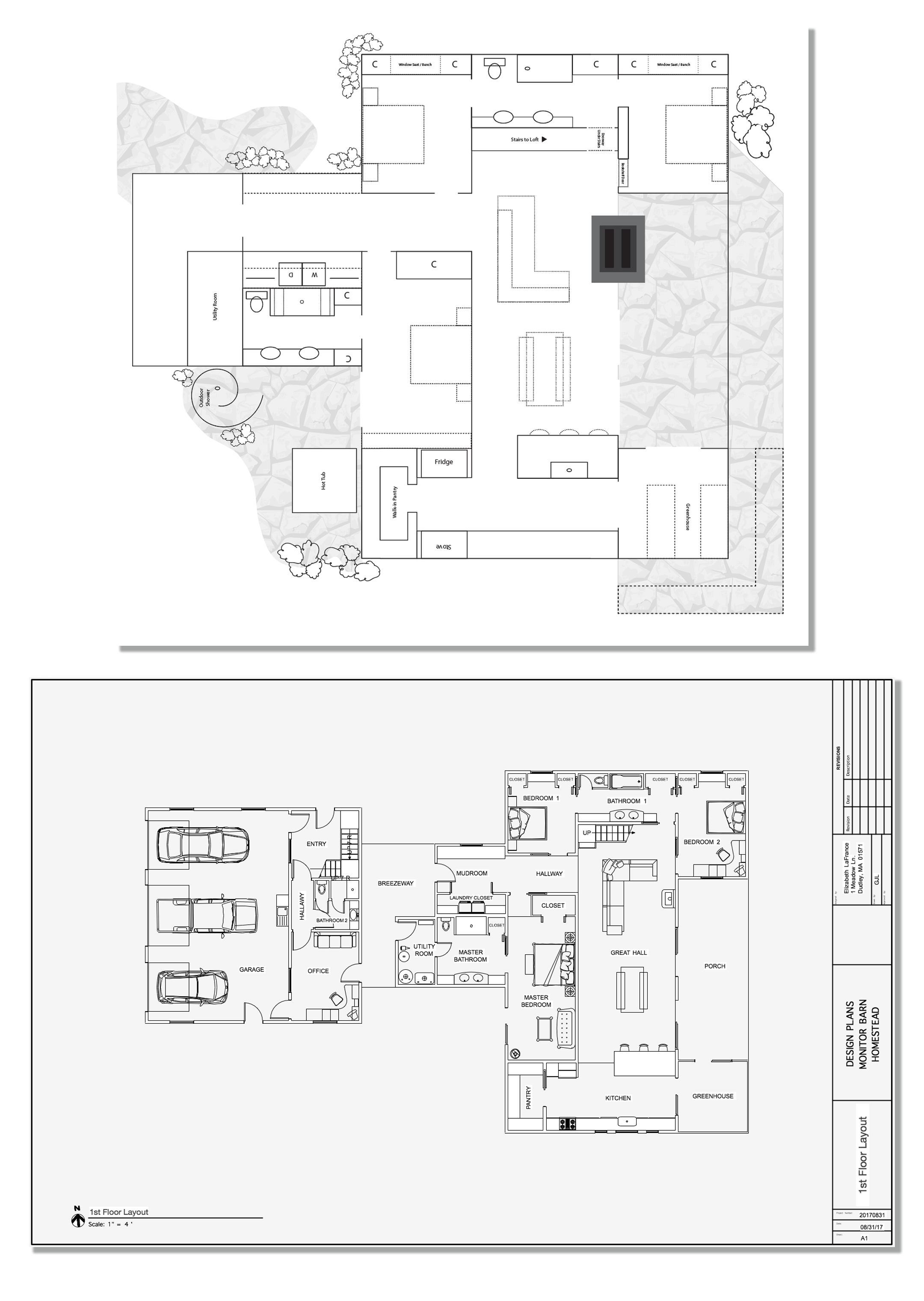 Floor Plan - Monitor Barn Style