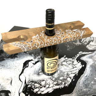 RUSTIC Handmade Wooden Wine Caddy
