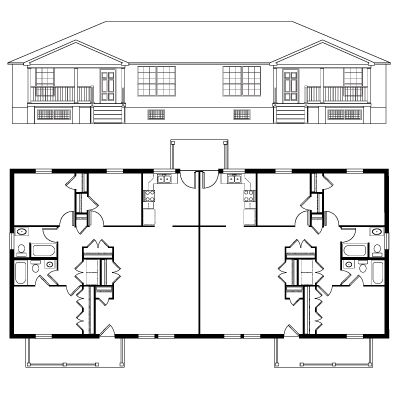 Floor Plan & Elevation - Metromont
