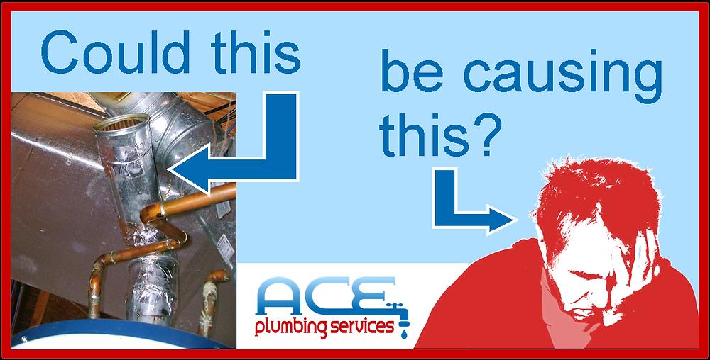 Water heater vent basement headaches