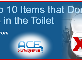Top 10 List of Items that Don't Go in the Toilet