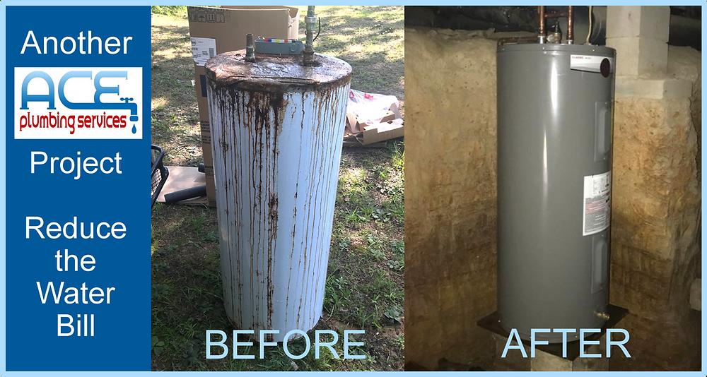 water heater pinson water bill