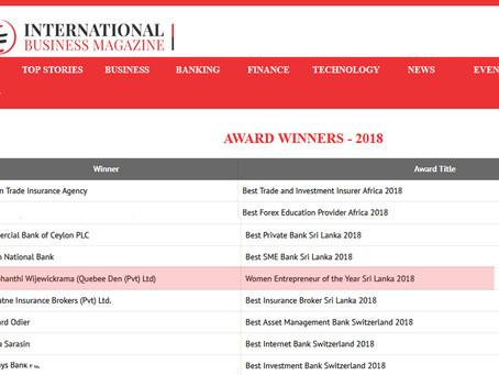 Quebee Den Wins Women Entrepreneur of the Year in Sri Lanka