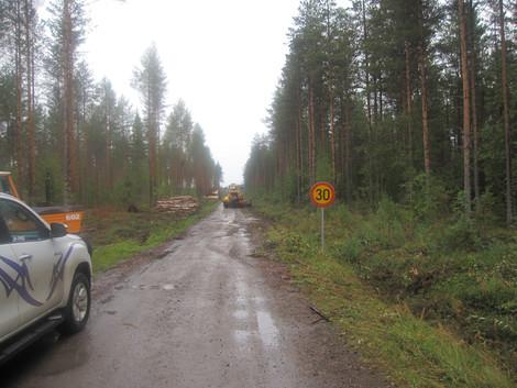 Pohjois-Iin metsätien runkotyöt on aloitettu