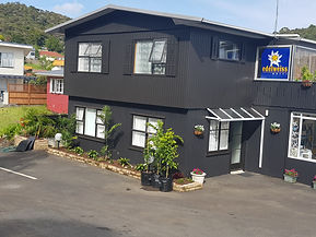 Painting a motel in paihia nz