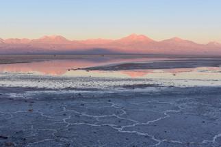 Laguna Chaxa Alpenglow Reflection