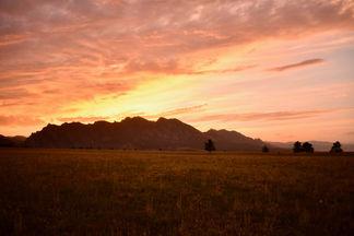 Fiery Flatirons Vista Sunset