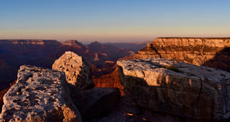 Sunset Monoliths at the South Rim