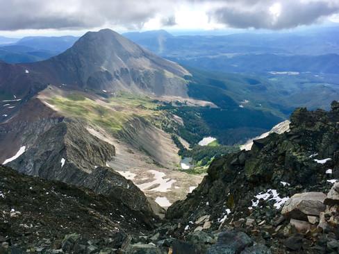 Blanca Peak Looking to Mt. Lindsey
