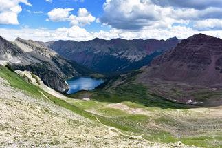 Trail Rider Pass towards Snowmass Lake