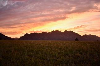 Flatirons Vista Sunset #3