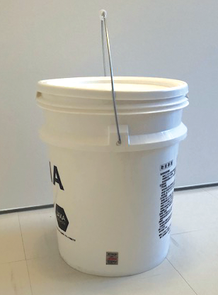 塗料容器に貼られた還元シール