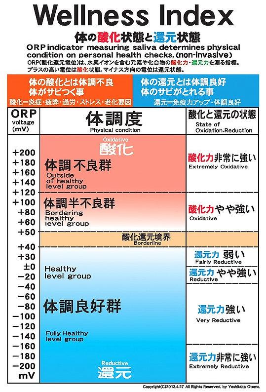 ORP体調度表