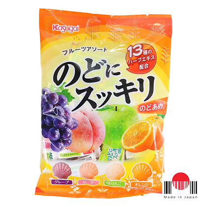 BBK142B - Nodo ni Sukkiri Fruits Assorted 113g - Kasugai
